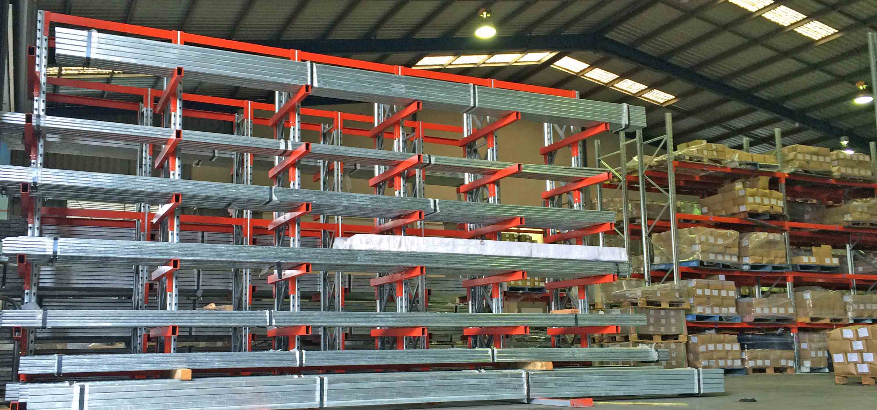 double machines and racks cantilever racking light individual components structure sided c en single heavy duty rack