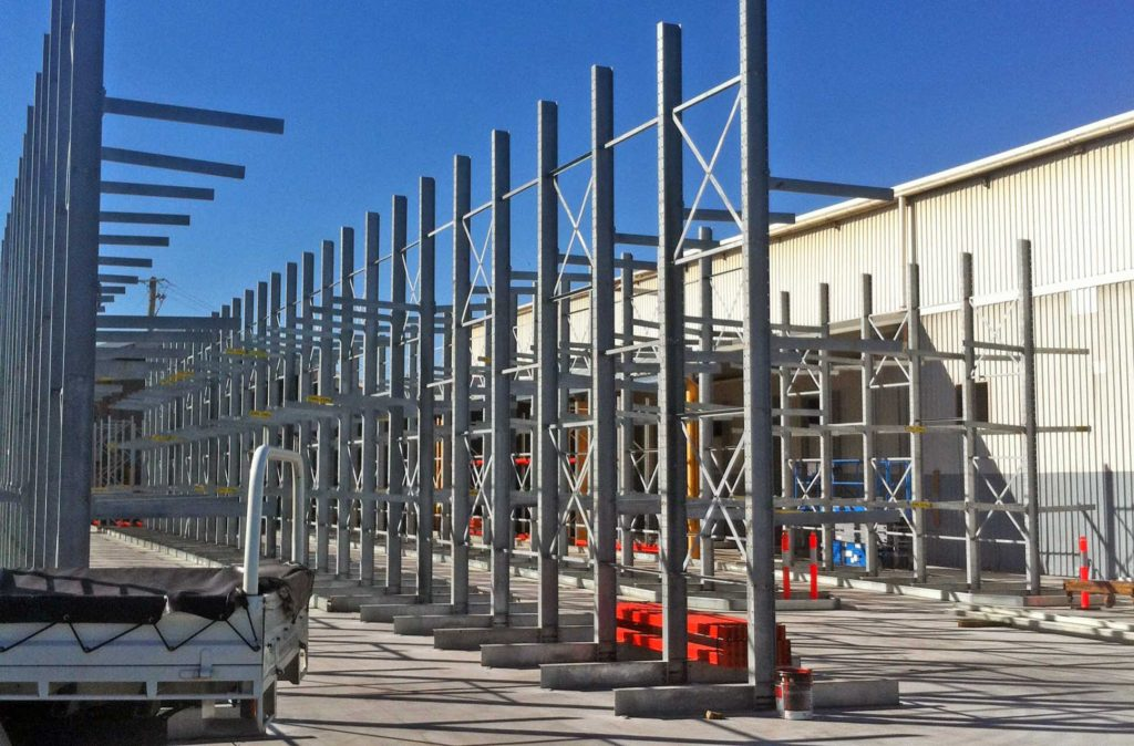 Galvanised Cantilever Racking brisbane