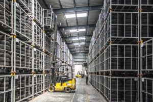 forklift warehouse racking