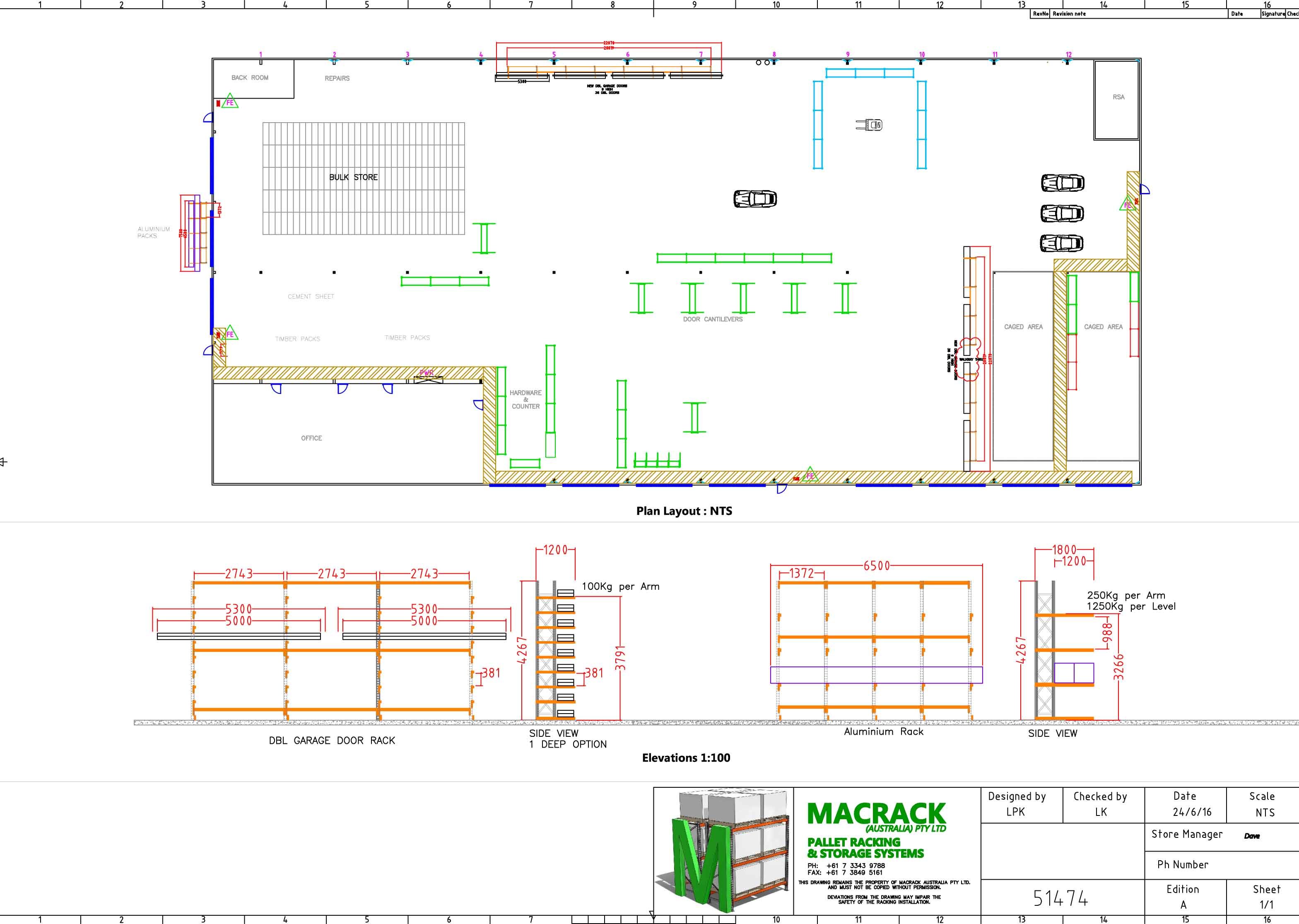 warehouse plan layout