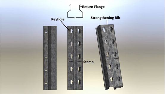 keyhole design racking
